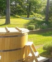 hot tub and hammock